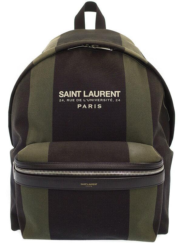 【SAINT LAURENT PARIS】サンローラン パリ『シティ バックパック』435988 メンズ 1週間保証【中古】