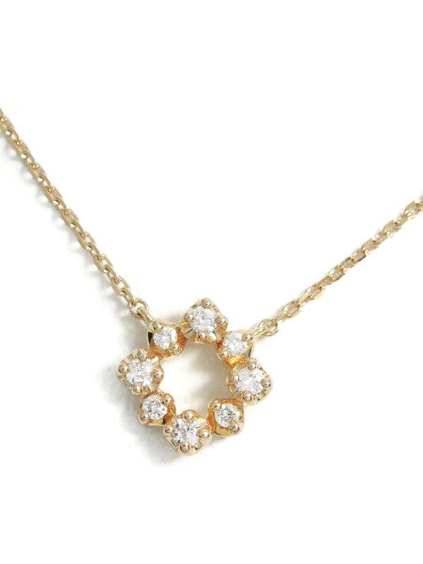 【4℃】【仕上済】ヨンドシー『K18PGネックレス ダイヤモンド』1週間保証【中古】