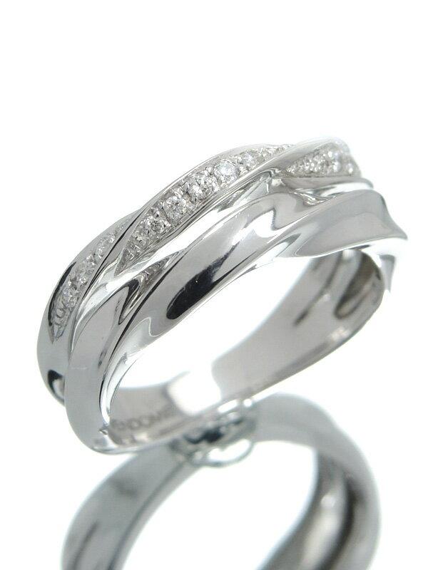 【Vendome Aoyama】【仕上済】ヴァンドーム青山『K18WGリング ダイヤモンド』11号 1週間保証【中古】