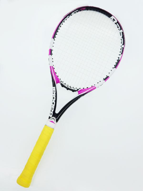 【BabolaT】バボラ『ドライブZ LITE 2013』ピンク G2 硬式用 テニスラケット 1週間保証【中古】