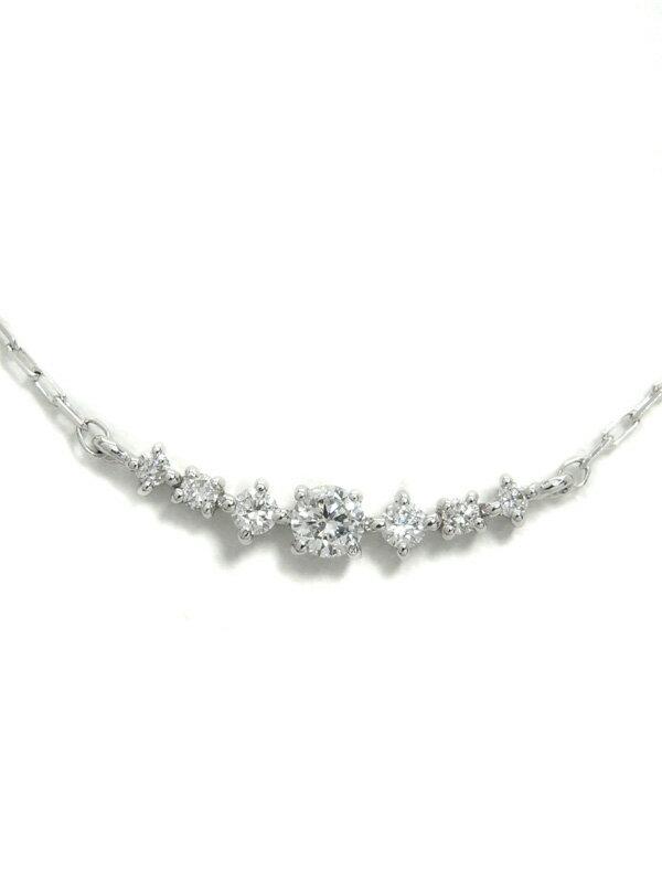 【4℃】ヨンドシー『K18WGネックレス ダイヤモンド』1週間保証【中古】
