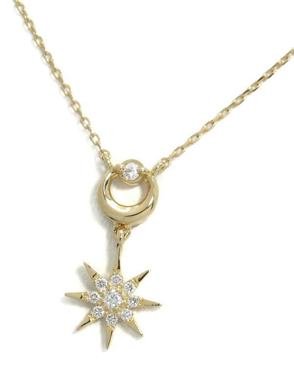 【Star Jewelry】【DAY&NIGHT】【2017年クリスマス限定】スタージュエリー『ダイヤモンド デイ&ナイト ネックレス』1週間保証【中古】