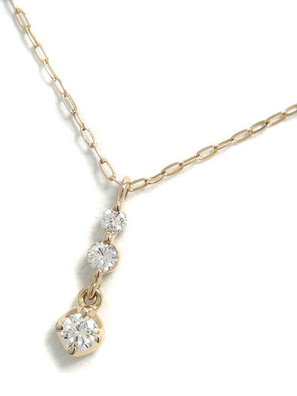 【4℃】ヨンドシー『K18YGネックレス ダイヤモンド』1週間保証【中古】