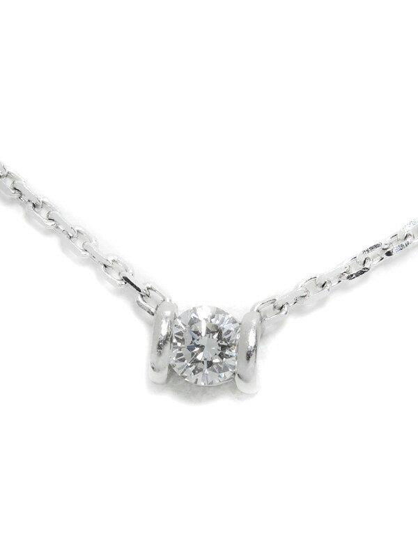 【星の砂】ホシノスナ『PT900/PT850ネックレス 1Pダイヤモンド0.19ct』1週間保証【中古】