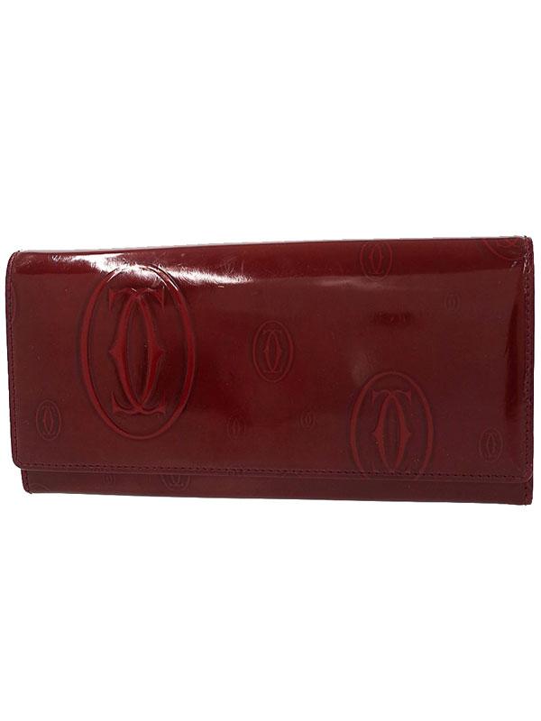 【Cartier】カルティエ『ハッピーバースデイ 二つ折り長財布』L3001281 レディース 1週間保証【中古】