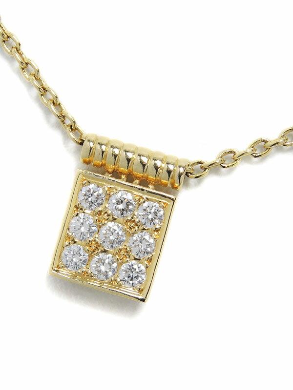 【Dior】ディオール『K18YGネックレス ダイヤモンド0.28ct』1週間保証【中古】