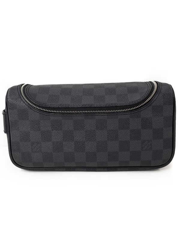 【LOUIS VUITTON】ルイヴィトン『ダミエ グラフィット トワレ ポーチ』N47625 メンズ 旅行用ポーチ 1週間保証【中古】