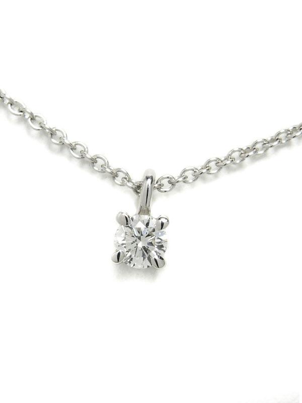 【TIFFANY&Co.】【仕上済】ティファニー『ソリティア 1Pダイヤモンド ネックレス』1週間保証【中古】