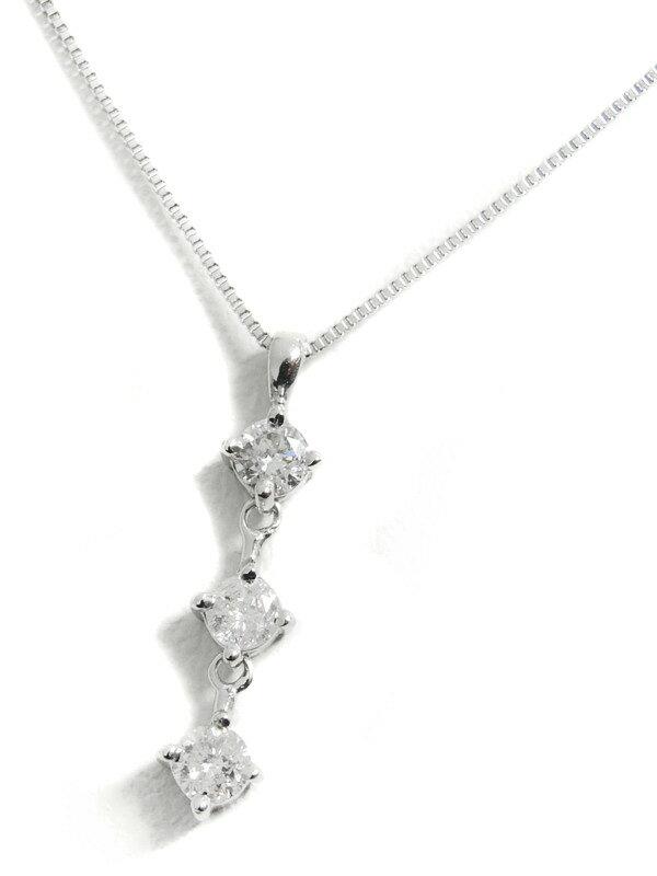 セレクトジュエリー『K18WGネックレス ダイヤモンド0.20ct』1週間保証【中古】