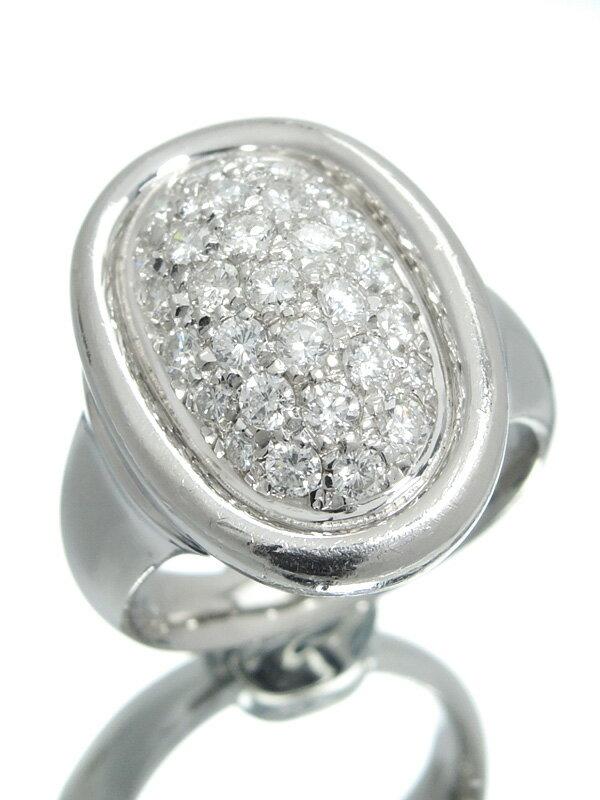【パヴェダイヤ】セレクトジュエリー『PT900リング ダイヤモンド1.02ct』13号 1週間保証【中古】