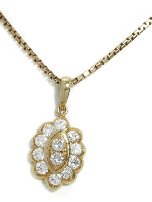 セレクトジュエリー『K18YGネックレス ダイヤモンド1.03ct』1週間保証【中古】