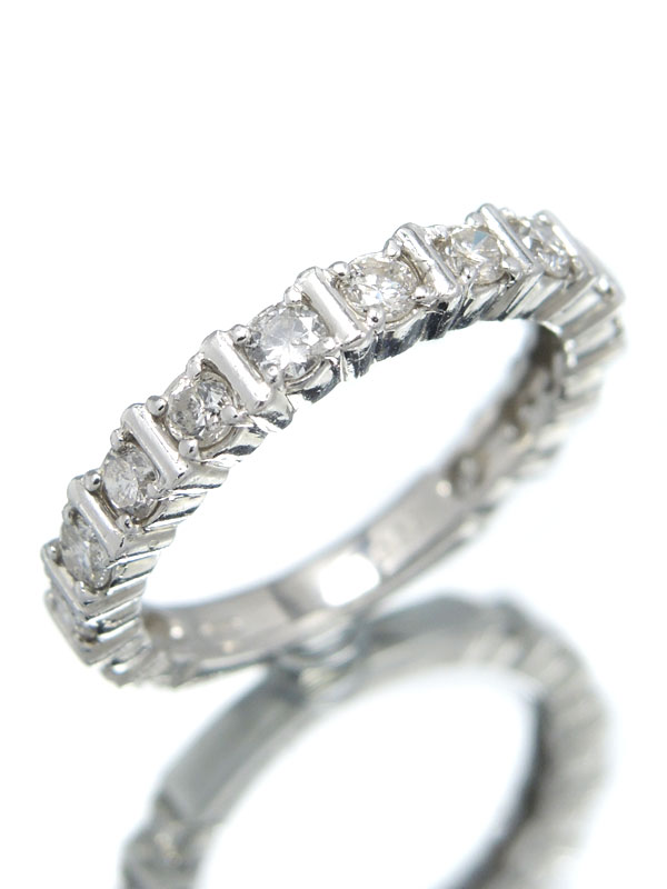 【エタニティ】セレクトジュエリー『PT900リング ダイヤモンド1.00ct』10号 1週間保証【中古】