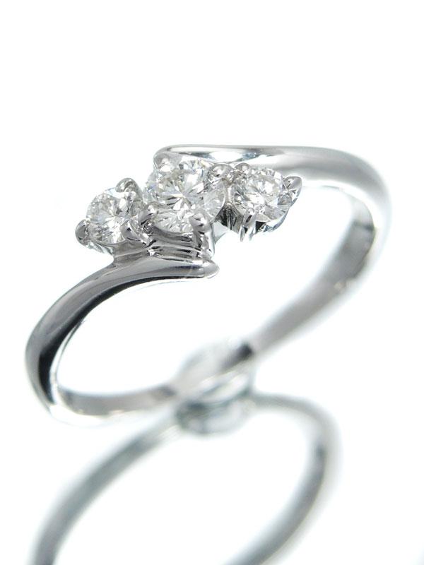 【仕上済】セレクトジュエリー『K18WGリング ダイヤモンド0.30ct』13号 1週間保証【中古】
