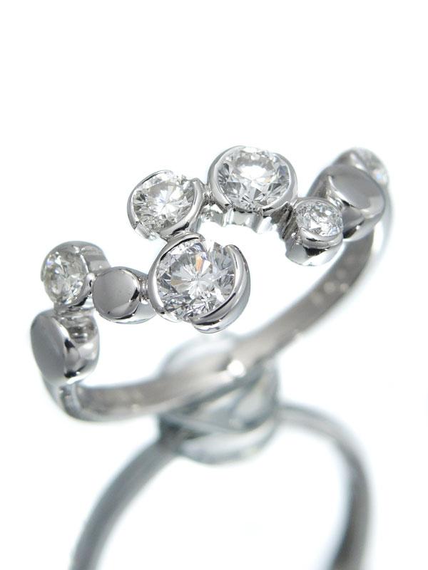 セレクトジュエリー『K18WGリング ダイヤモンド0.60ct』11号 1週間保証【中古】