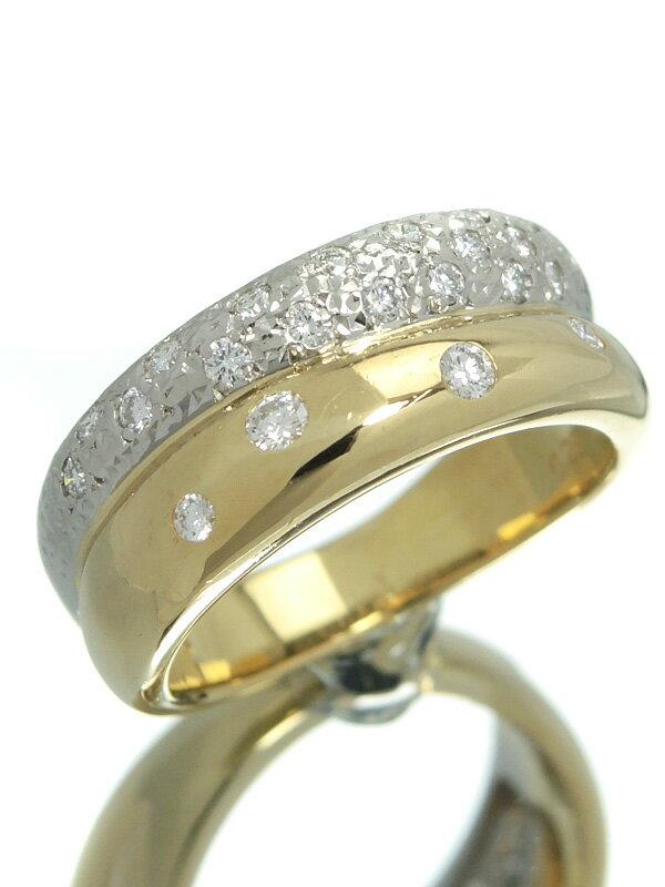 【TASAKI】タサキ『K18YG/PT900リング ダイヤモンド0.29ct』11.5号 1週間保証【中古】