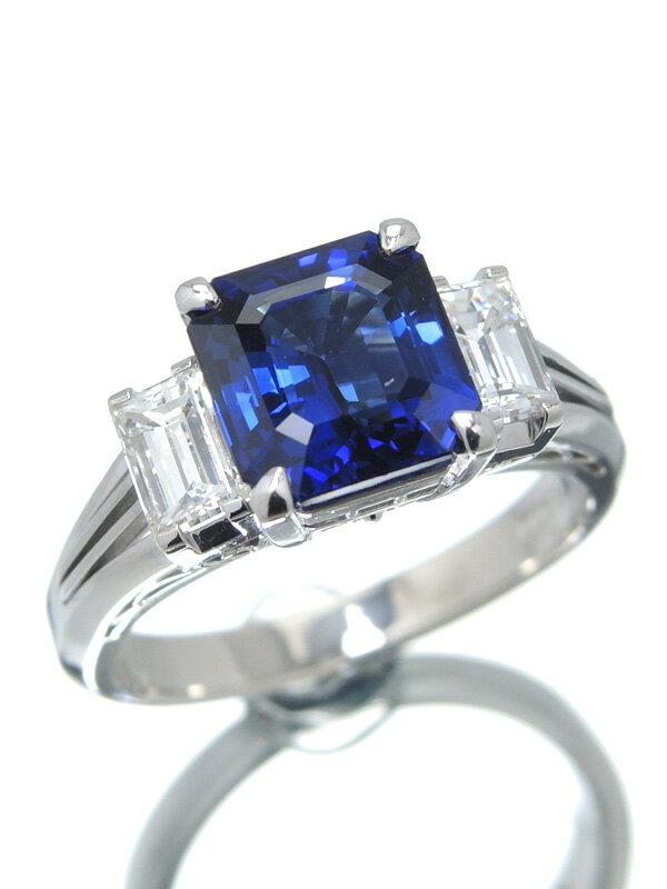 【ソーティング】セレクトジュエリー『PT900リング サファイア2.70ct ダイヤモンド0.74ct』12号 1週間保証【中古】