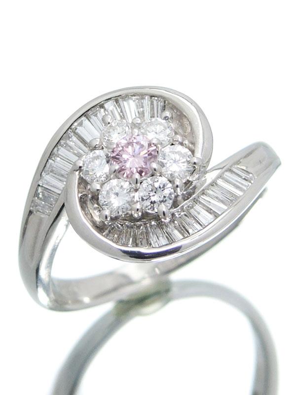 【ソーティング】【仕上済】セレクトジュエリー『PT900リング ダイヤモンド0.133ct/FPP/SI2 0.92ct フラワーモチーフ』16.5号 1週間保証【中古】