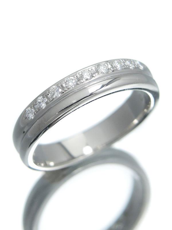 【TASAKI】【仕上済】タサキ『PT1000リング ダイヤモンド0.11ct』9号 1週間保証【中古】