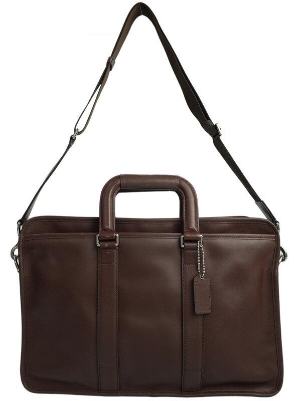 【COACH】コーチ『レキシントン レザー エンバシー ブリーフケース』F70662 メンズ ビジネスバッグ 1週間保証【中古】