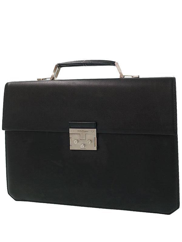 【Salvatore Ferragamo】フェラガモ『ブリーフケース』EO-24 0559 メンズ ビジネスバッグ 1週間保証【中古】