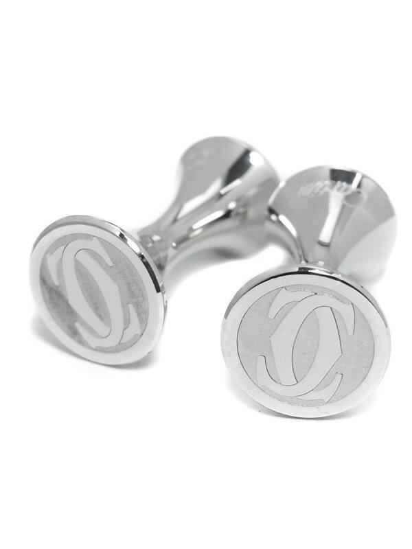 【Cartier】カルティエ『2C ロゴ カフリンクス』カフスボタン 1週間保証【中古】