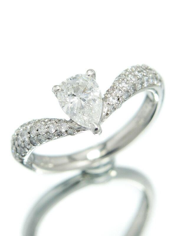 【ソーティング】【仕上済】セレクトジュエリー『PT900リング ダイヤモンド0.605ct/G/I-1 0.41ct』11号 1週間保証【中古】