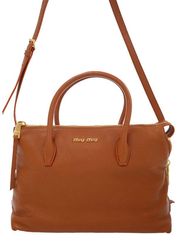 【MIU MIU】【バイカラー】ミュウミュウ『アベニュー 2WAYハンドバッグ』5BB016 レディース 2WAYバッグ 1週間保証【中古】