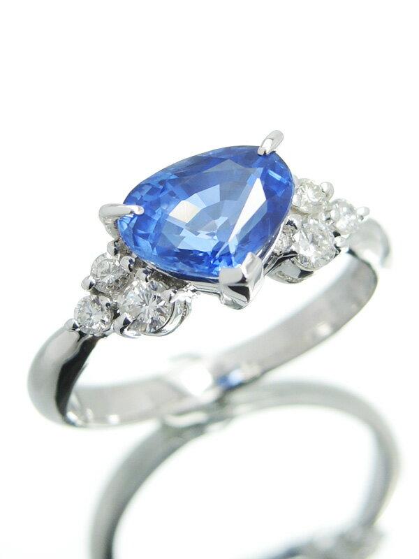 セレクトジュエリー『PT900リング サファイア2.05ct ダイヤモンド0.22ct』11.5号 1週間保証【中古】