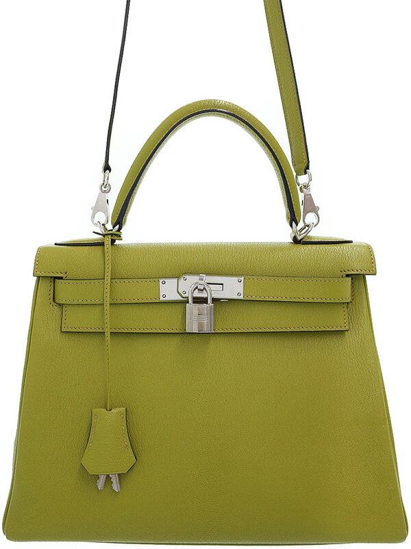 【HERMES】【シルバー金具】エルメス『ケリー28 内縫い』J刻印 2006年製 レディース 2WAYバッグ 1週間保証【中古】