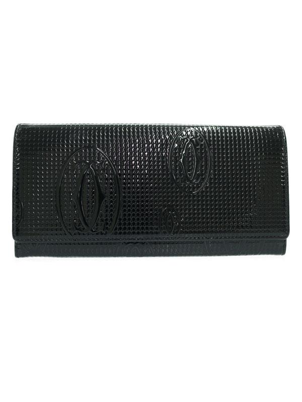 【Cartier】【ハニーコム】カルティエ『ハッピーバースデイ 二つ折り長財布』L3001284 レディース 1週間保証【中古】
