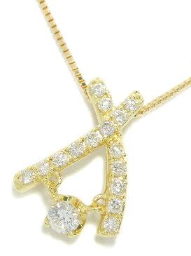 セレクトジュエリー『K18YGネックレス ダイヤモンド0.55ct』1週間保証【中古】b01j/h19A