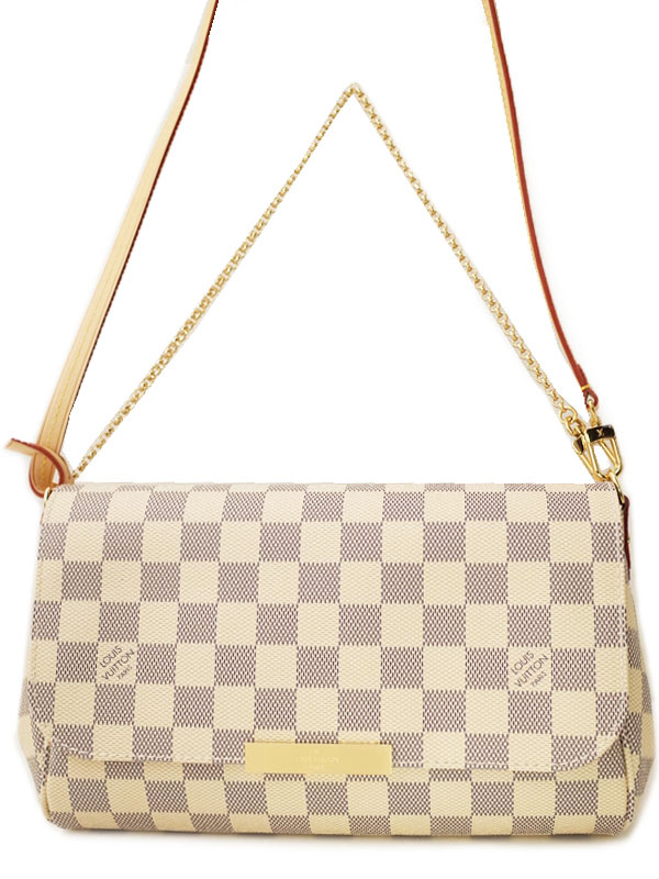 【LOUIS VUITTON】ルイヴィトン『ダミエ アズール フェイボリットMM』N41275 レディース 2WAYバッグ 1週間保証【中古】