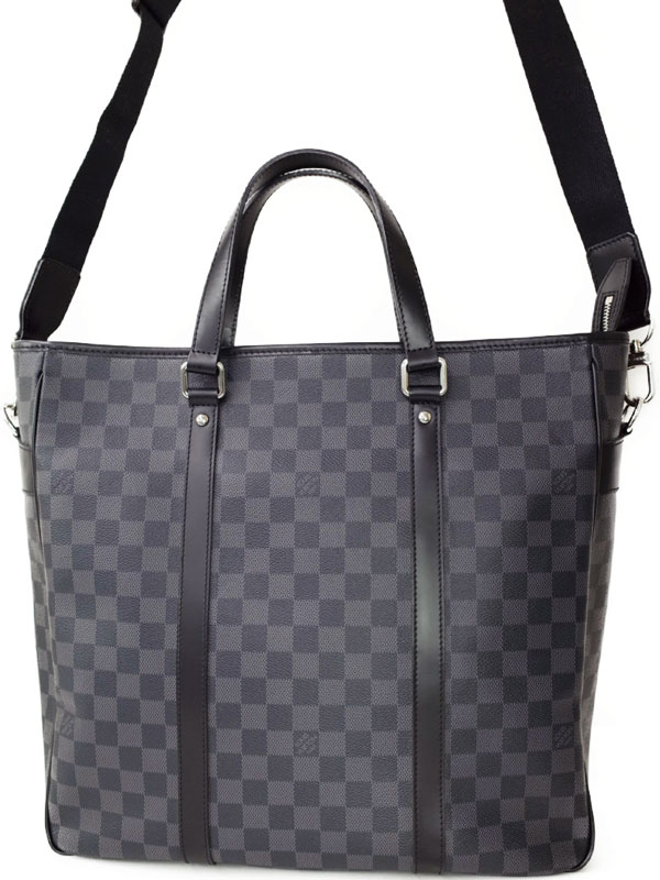 【LOUIS VUITTON】ルイヴィトン『ダミエ グラフィット タダオ』N51192 メンズ 2WAYバッグ 1週間保証【中古】