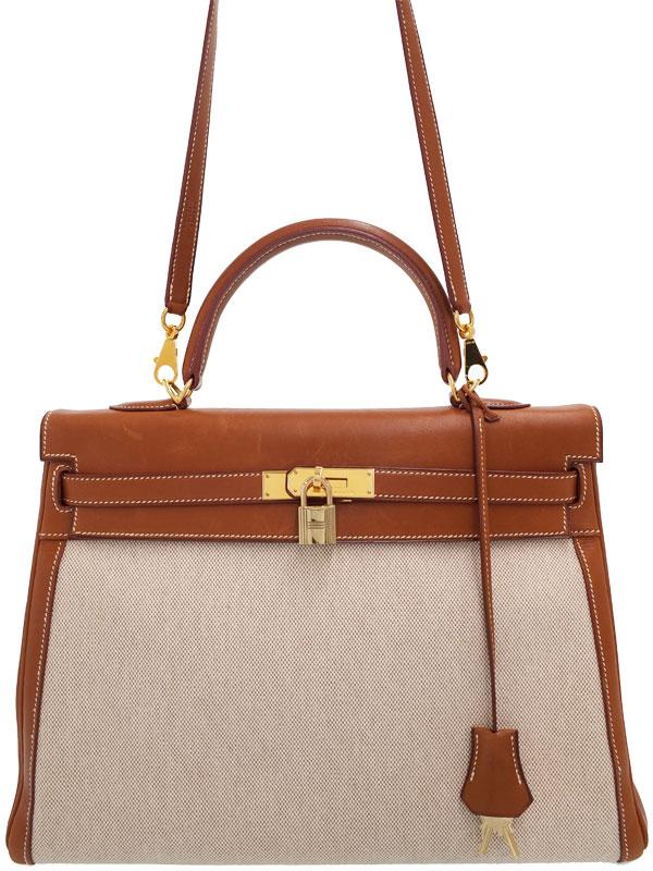 【HERMES】【ゴールド金具】エルメス『ケリー35 外縫い』E刻印 2001年製 レディース 2WAYバッグ 1週間保証【中古】
