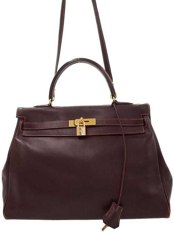 【HERMES】【ゴールド金具】エルメス『ケリー35 内縫い』B刻印 1998年 レディース 2WAYバッグ 1週間保証【中古】