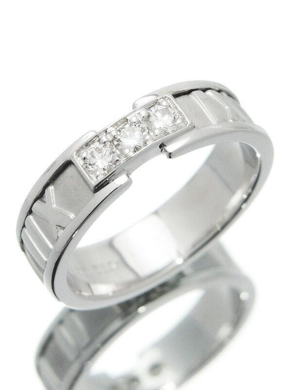 【TIFFANY&Co.】ティファニー『アトラス リング 3Pダイヤモンド』13号 1週間保証【中古】