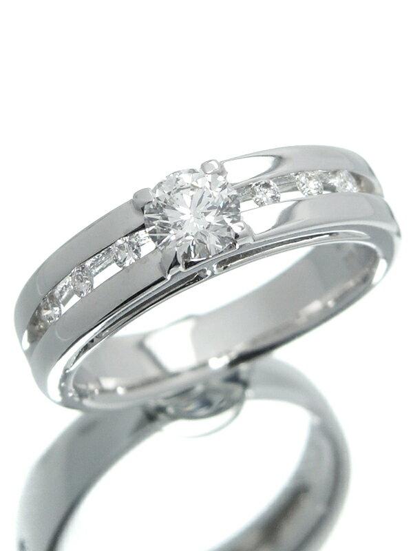 【ソーティング】【仕上済】セレクトジュエリー『K18WGリング ダイヤモンド0.383ct/F/VS-2/EXCELLENT 0.07ct』12号 1週間保証【中古】