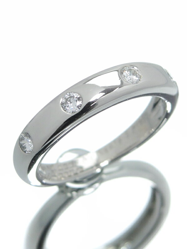 【Van Cleef & Arpels】【訳有特価】【仕上済】ヴァンクリーフ&アーペル『PT950リング 4Pダイヤモンド』8.5号 1週間保証【中古】