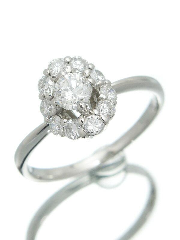 【仕上済】【ソーティング】セレクトジュエリー『PT900リング ダイヤモンド0.341ct/G/SI-1/POOR 0.44ct』12号 1週間保証【中古】