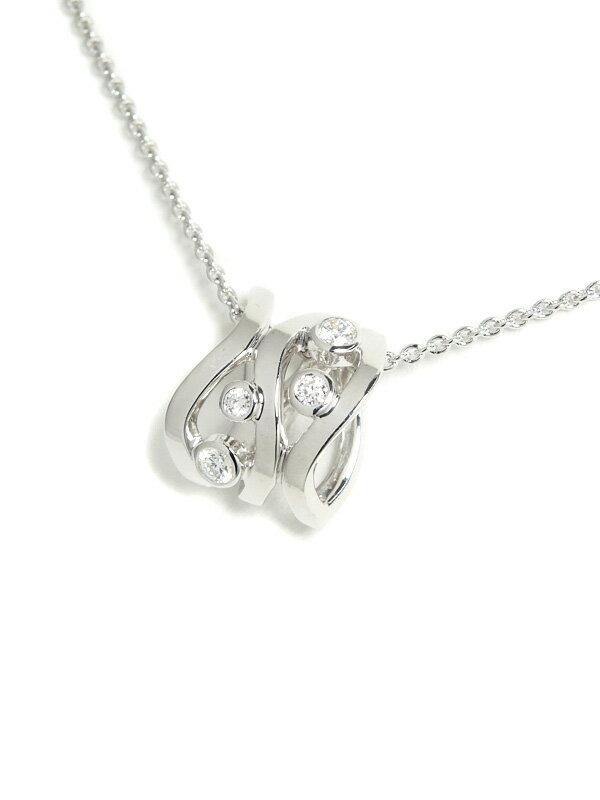 【MIKIMOTO】ミキモト『K18WGネックレス ダイヤモンド0.12ct』1週間保証【中古】