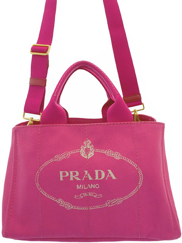 【PRADA】プラダ『カナパ 2WAYトートバッグ』レディース 2WAYバッグ 1週間保証【中古】