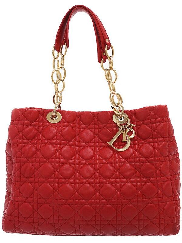 【Christian Dior】クリスチャンディオール『カナージュ チェーントートバッグ』CAL44956 レディース 1週間保証【中古】
