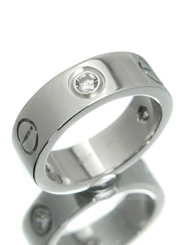 【Cartier】【仕上済】カルティエ『ラブリング ハーフ ダイヤ』7号 1週間保証【中古】