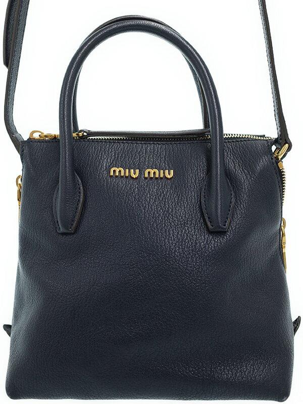 【MIUMIU】ミュウミュウ『マドラス 2WAYハンドバッグ』5BA003 レディース 2WAYバッグ 1週間保証【中古】