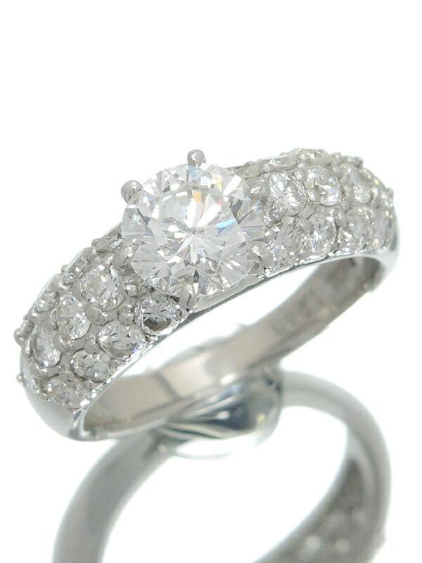 【ソーティング】【仕上済】セレクトジュエリー『PT900リング ダイヤモンド1.243ct/G/SI-1/VERY GOOD 1.18ct』11号 1週間保証【中古】