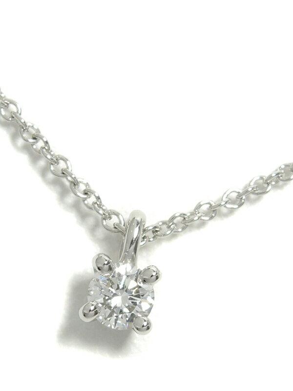 【TIFFANY&Co.】【仕上済】ティファニー『ソリティア  ダイヤモンド ネックレス』1週間保証【中古】