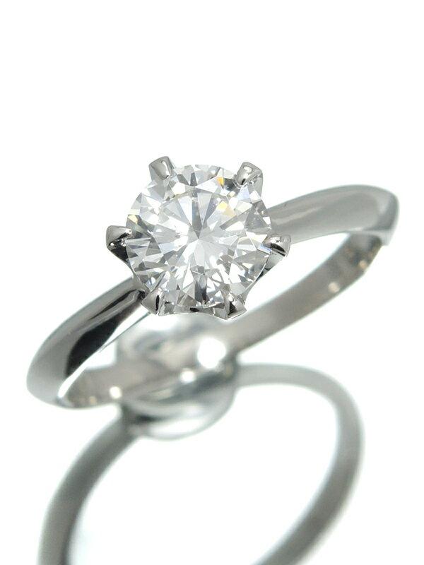 【ソーティング】【仕上済】セレクトジュエリー『PT900リング ダイヤモンド1.029ct/F/SI-1/GOOD』12号 1週間保証【中古】