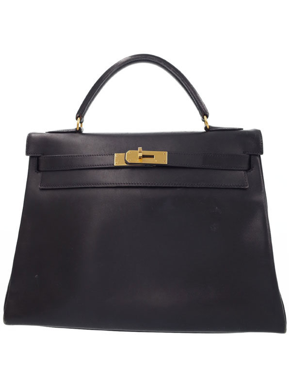 【HERMES】【ゴールド金具】エルメス『ケリー32 内縫い』W刻印 1993年製 レディース ハンドバッグ 1週間保証【中古】