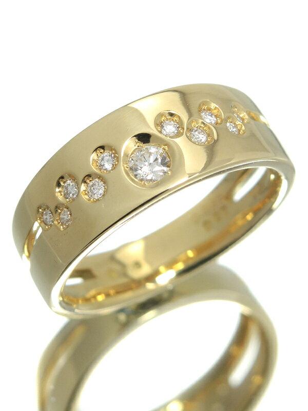 【Wish upon a star】ウィッシュアポンアスター『K18YGリング ダイヤモンド0.086ct 0.07ct』13号 1週間保証【中古】