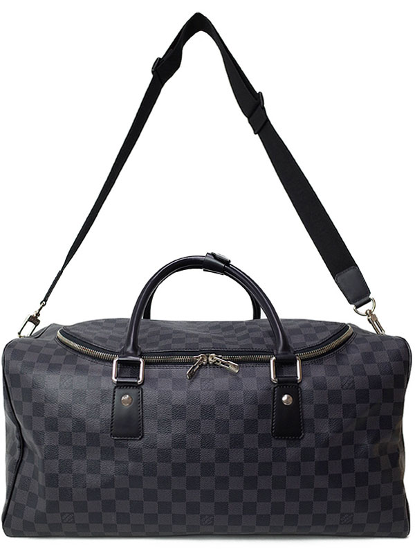【LOUIS VUITTON】【旅行用ボストンバッグ】ルイヴィトン『ダミエ グラフィット ロードスター50』N48189 メンズ 2WAYバッグ 1週間保証【中古】